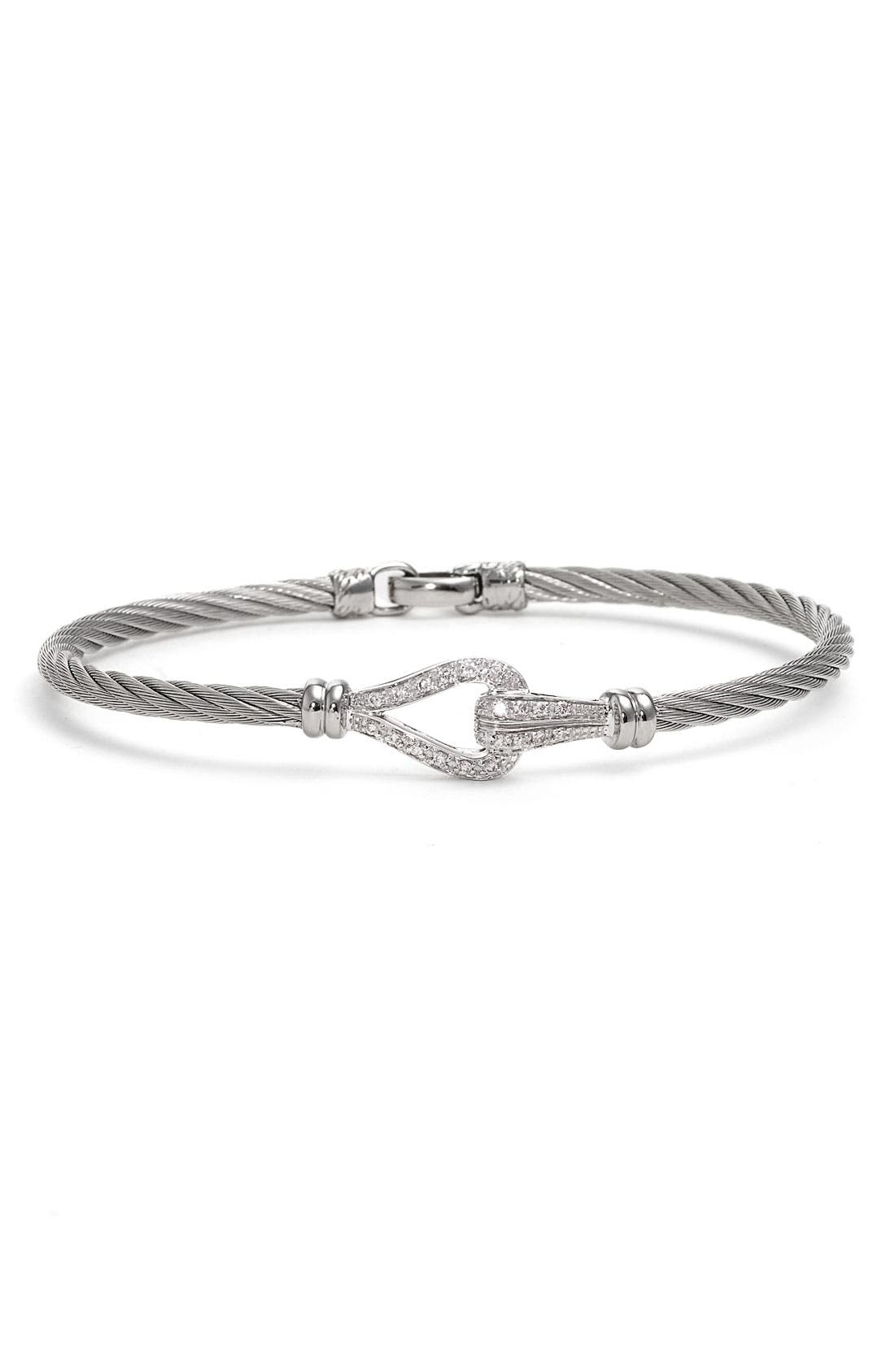 Alternate Image 1 Selected - ALOR® Overlapping Diamond Knot Bangle