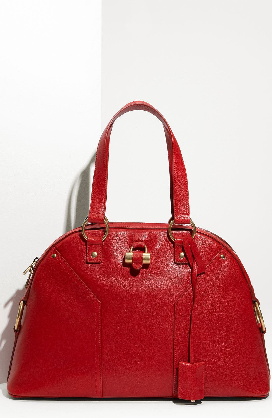 Alternate Image 1 Selected - Yves Saint Laurent 'Muse - Large' Leather Dome Satchel