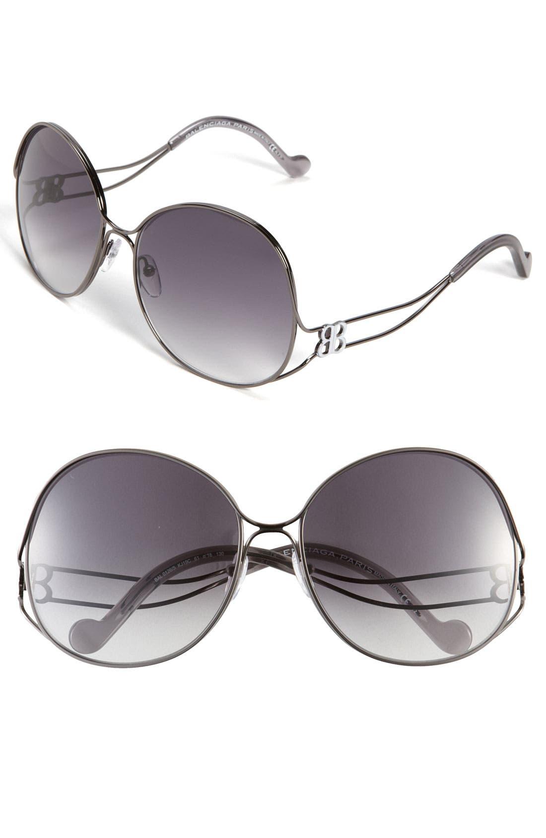 Alternate Image 1 Selected - Balenciaga Paris Oversized Sunglasses