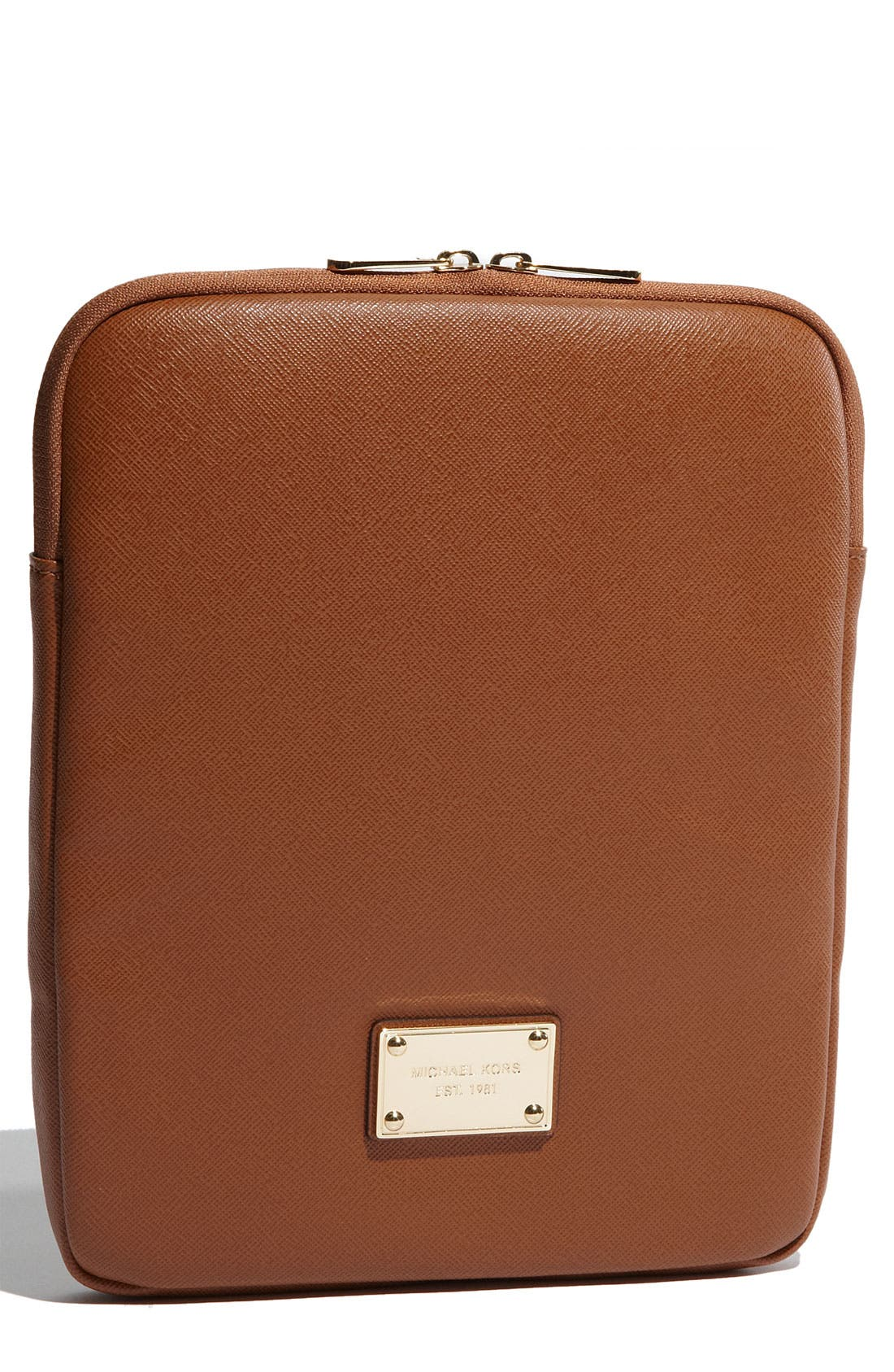 Alternate Image 1 Selected - MICHAEL Michael Kors Saffiano Leather iPad Case