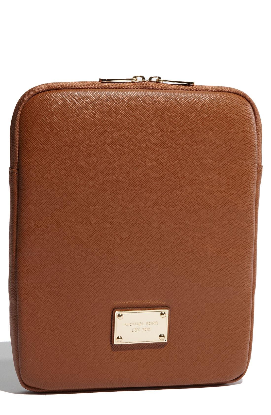 Main Image - MICHAEL Michael Kors Saffiano Leather iPad Case
