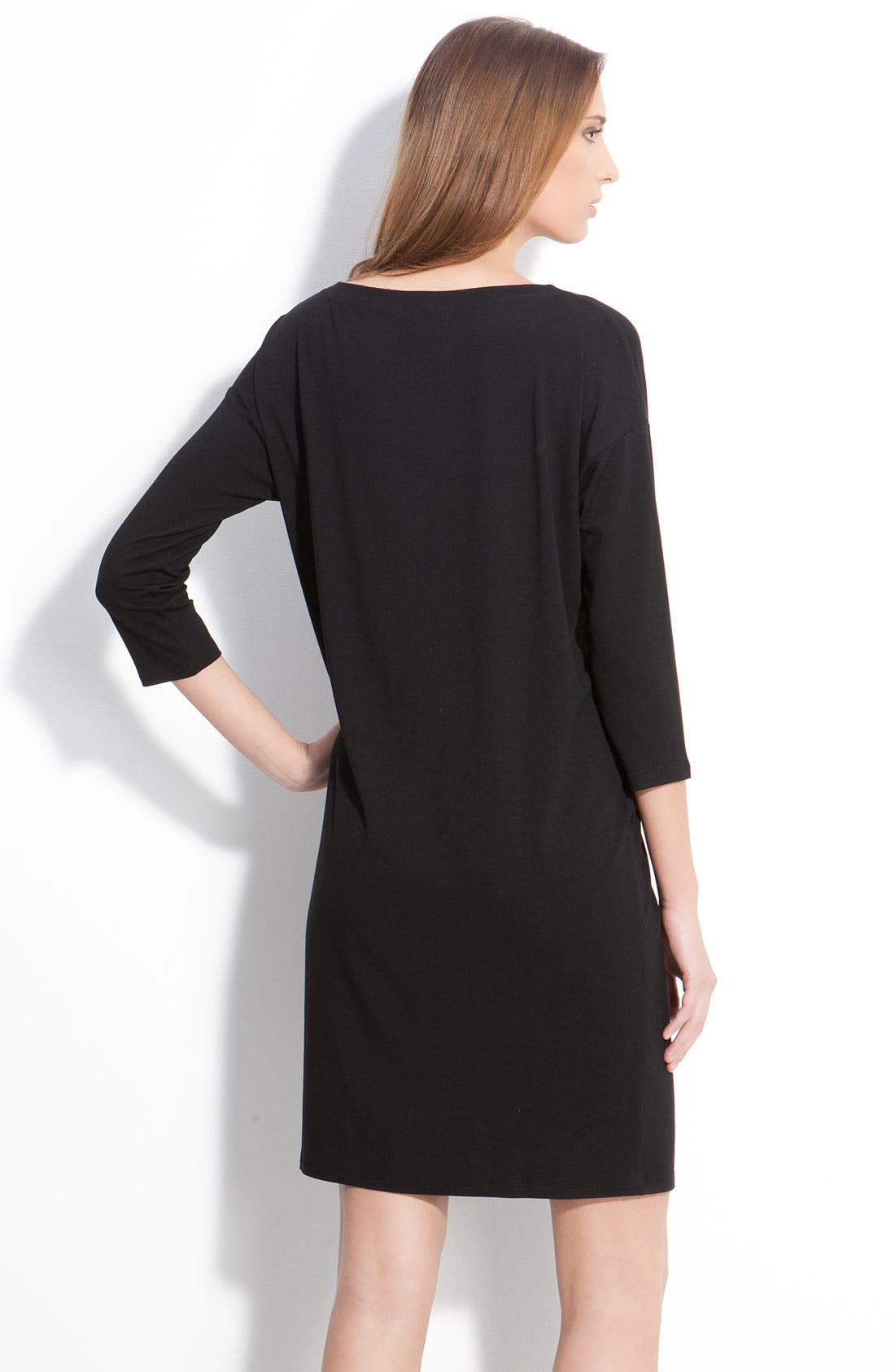 Alternate Image 2  - Eileen Fisher Asymmetrical Neck Dress (Petite)