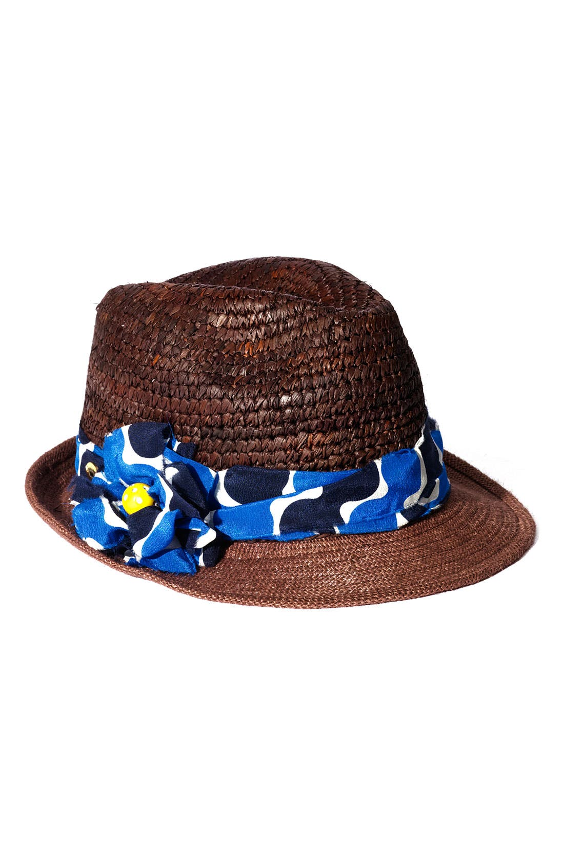 Main Image - Juicy Couture Straw and Burlap Fedora