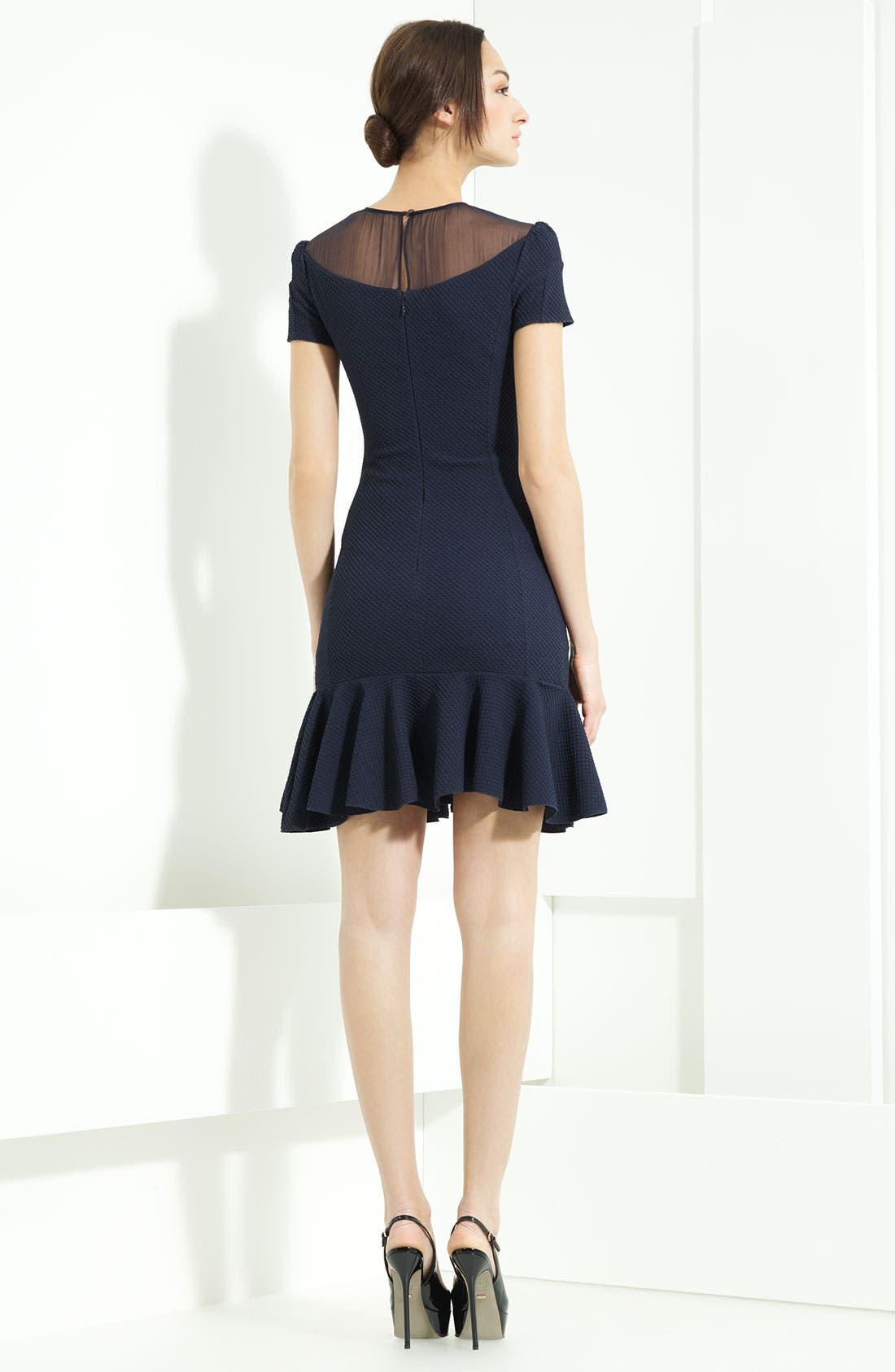 Alternate Image 2  - Nina Ricci Stretch Honeycomb Knit Dress