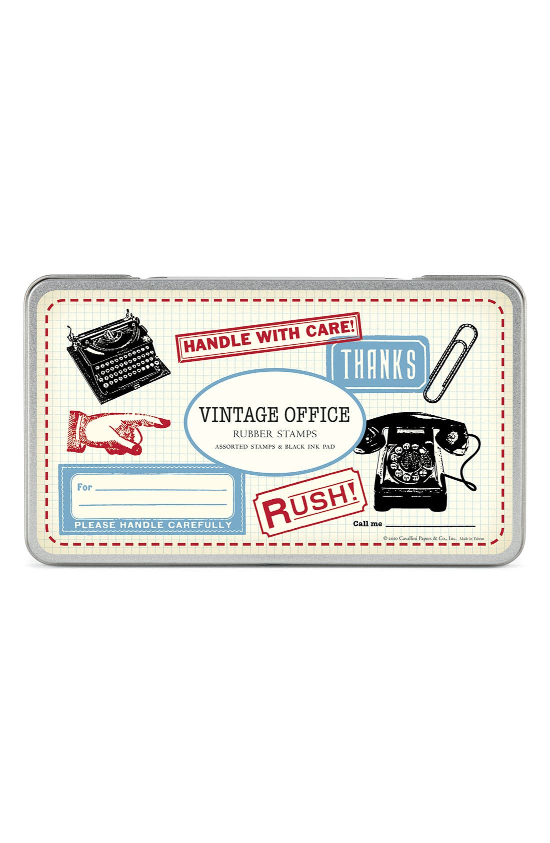Alternate Image 1 Selected - Cavallini & Co. 'Vintage Office' Rubber Stamps