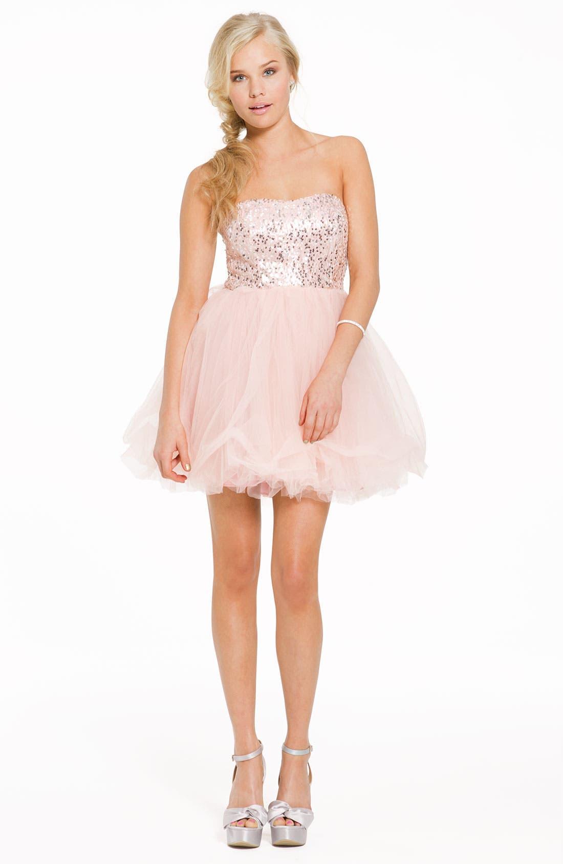 Alternate Image 3  - Trixxi 'Ballerina' Dress (Juniors)