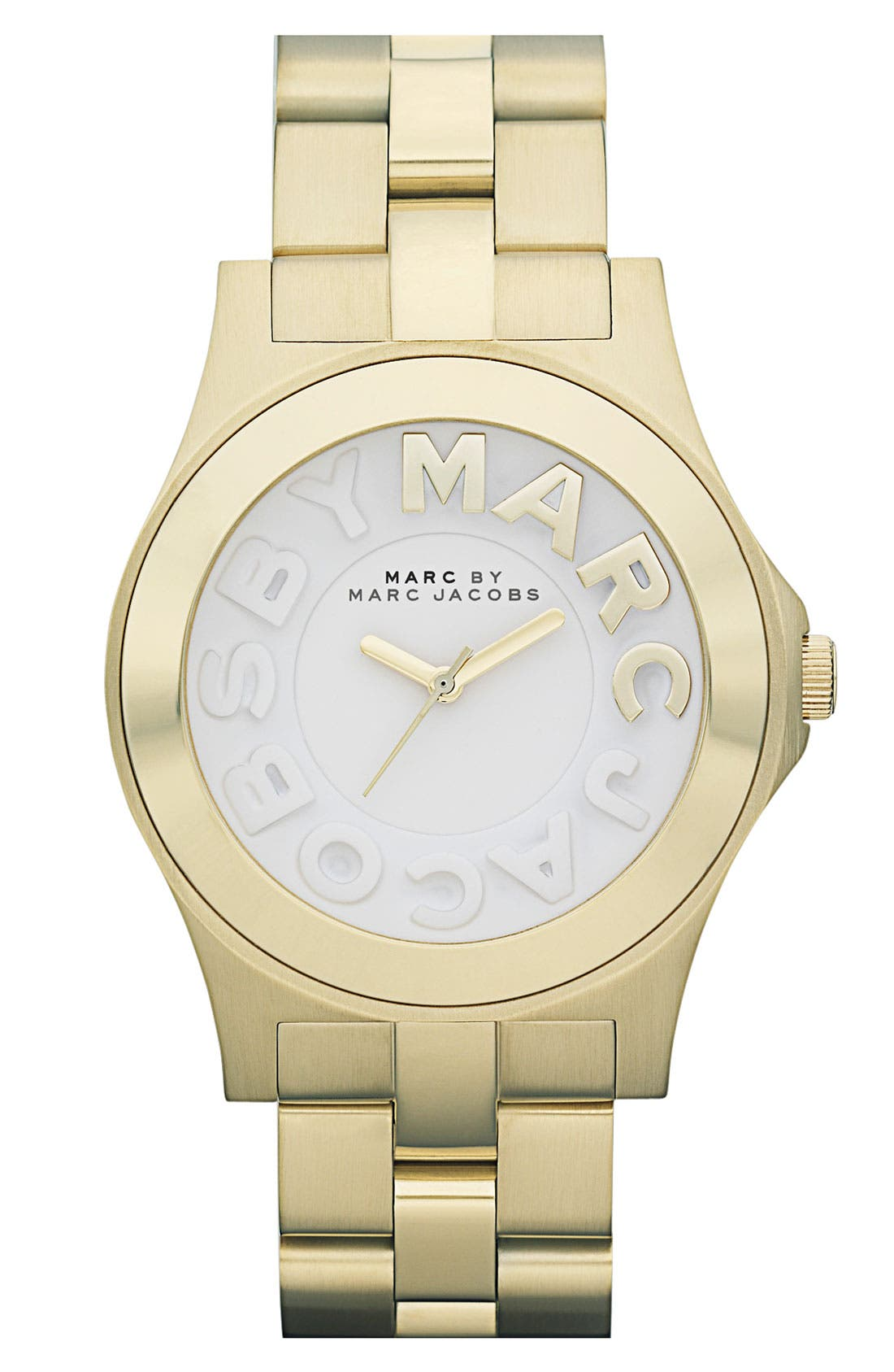 Alternate Image 1 Selected - MARC BY MARC JACOBS 'Rivera' Round Bracelet Watch