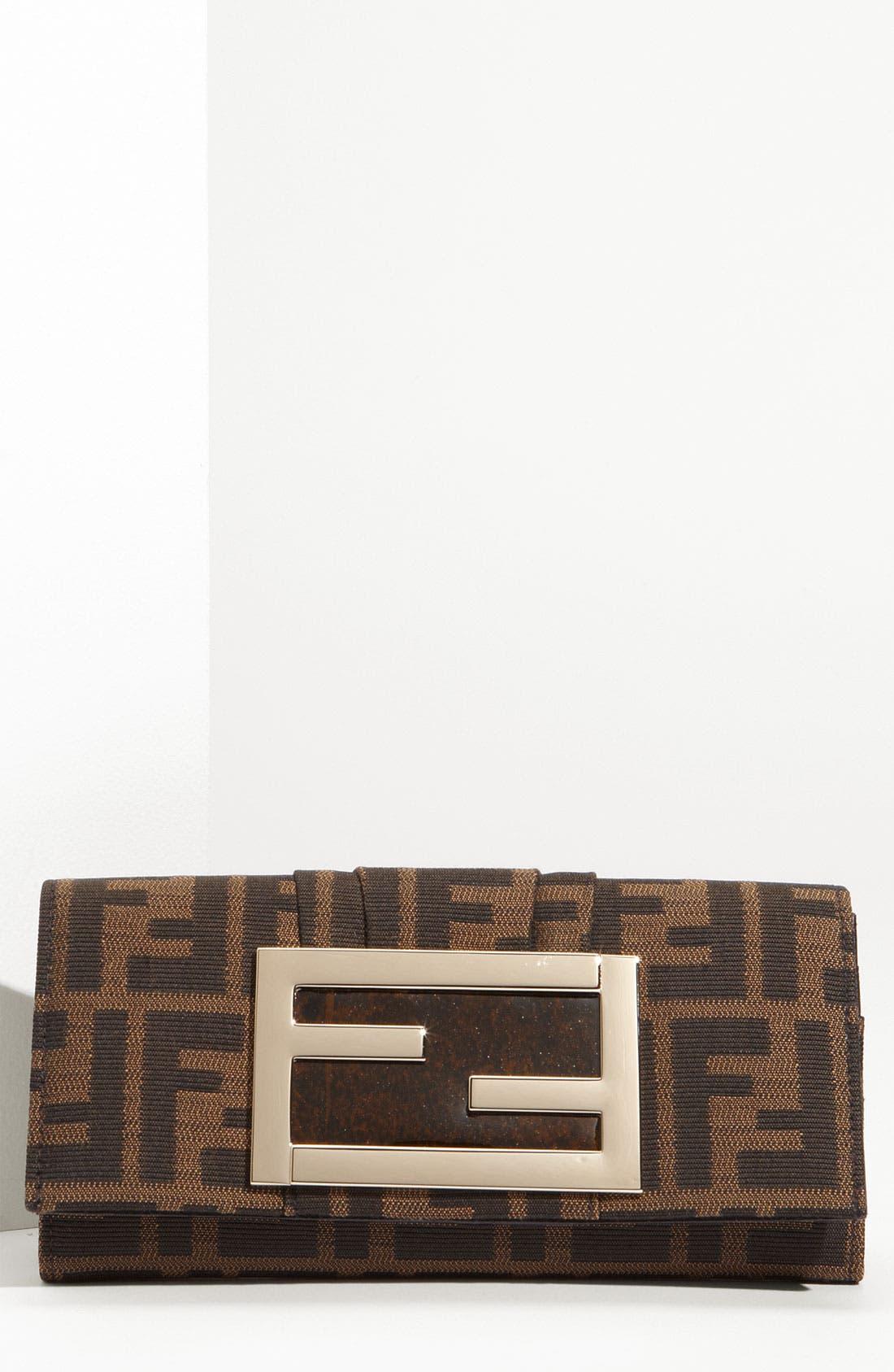 Main Image - Fendi 'Zucca Mia' Clutch Wallet