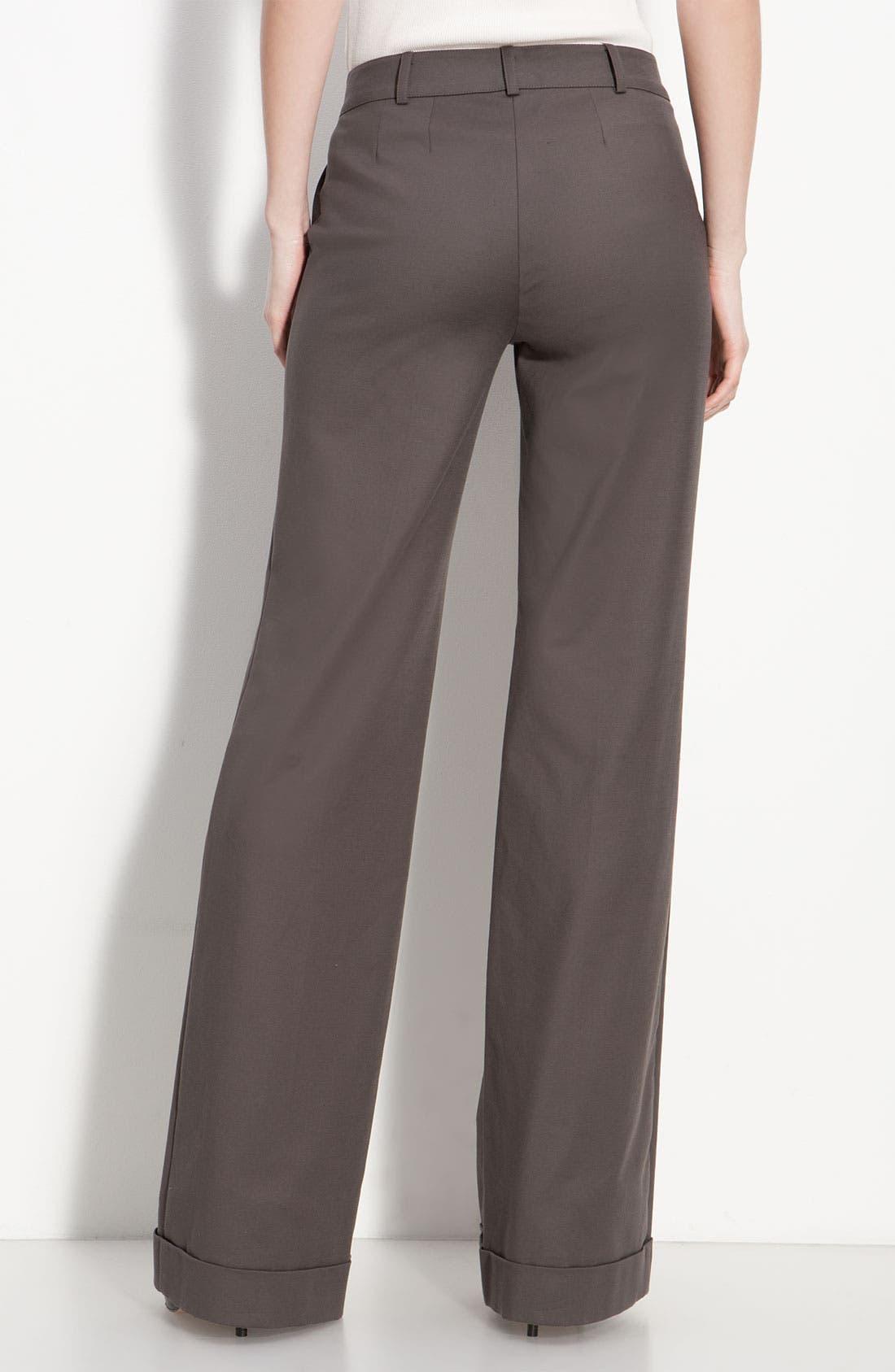 Alternate Image 2  - St. John Collection Cuffed Wide Leg Pants