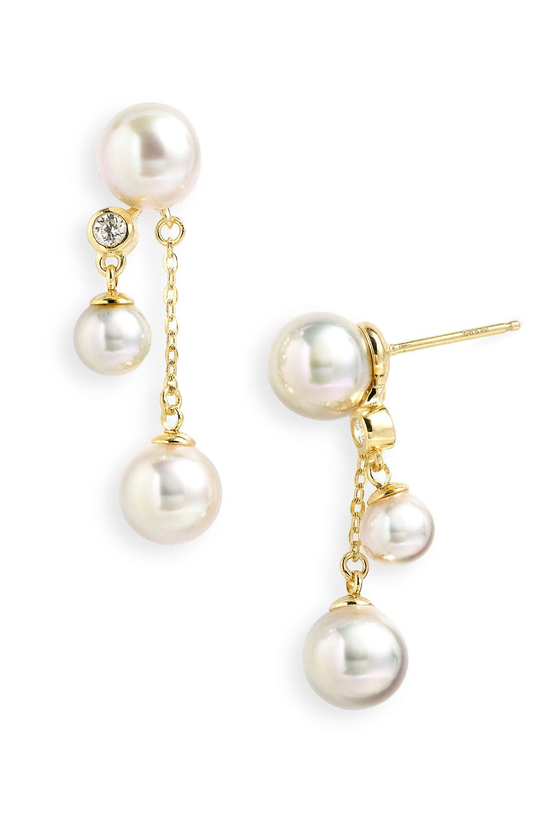 Main Image - Majorica 'Illusion' Double Drop Pearl Earrings