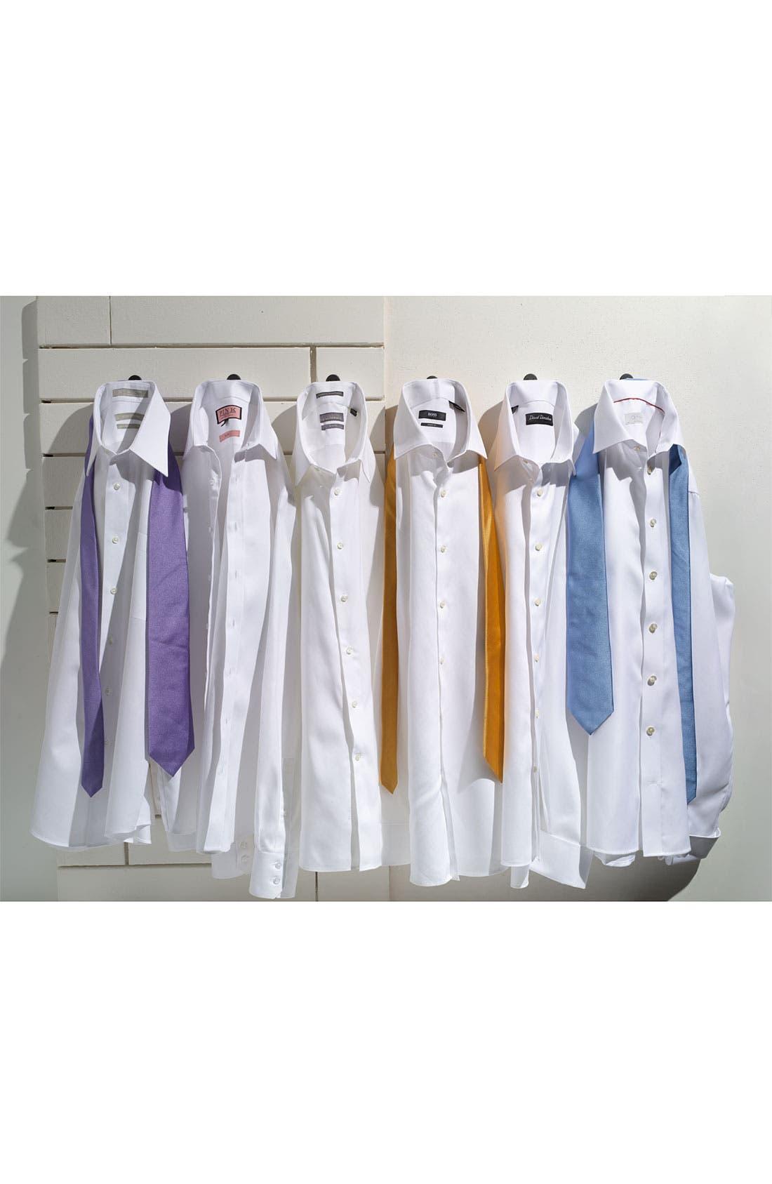 Alternate Image 12  - Nordstrom Men's Shop Smartcare™ Wrinkle Free Traditional Fit Herringbone Dress Shirt