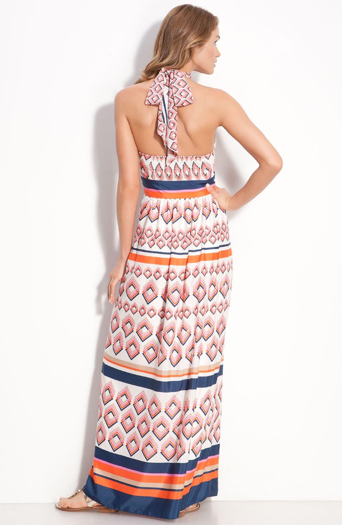 Alternate Image 2  - Eliza J Tie Neck Maxi Dress