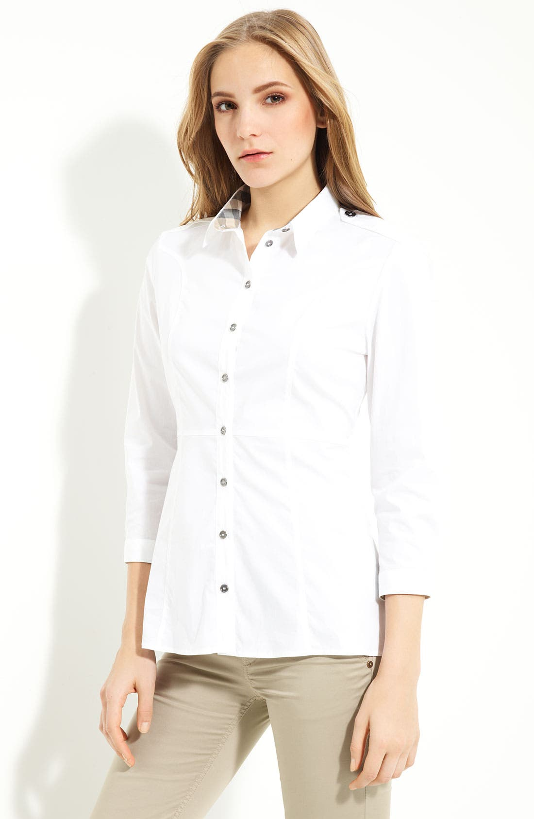 Alternate Image 1 Selected - Burberry Brit Button Front Shirt