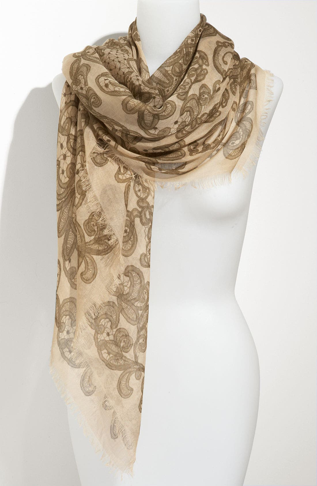 Main Image - Alexander McQueen 'Lace Skull' Pashmina