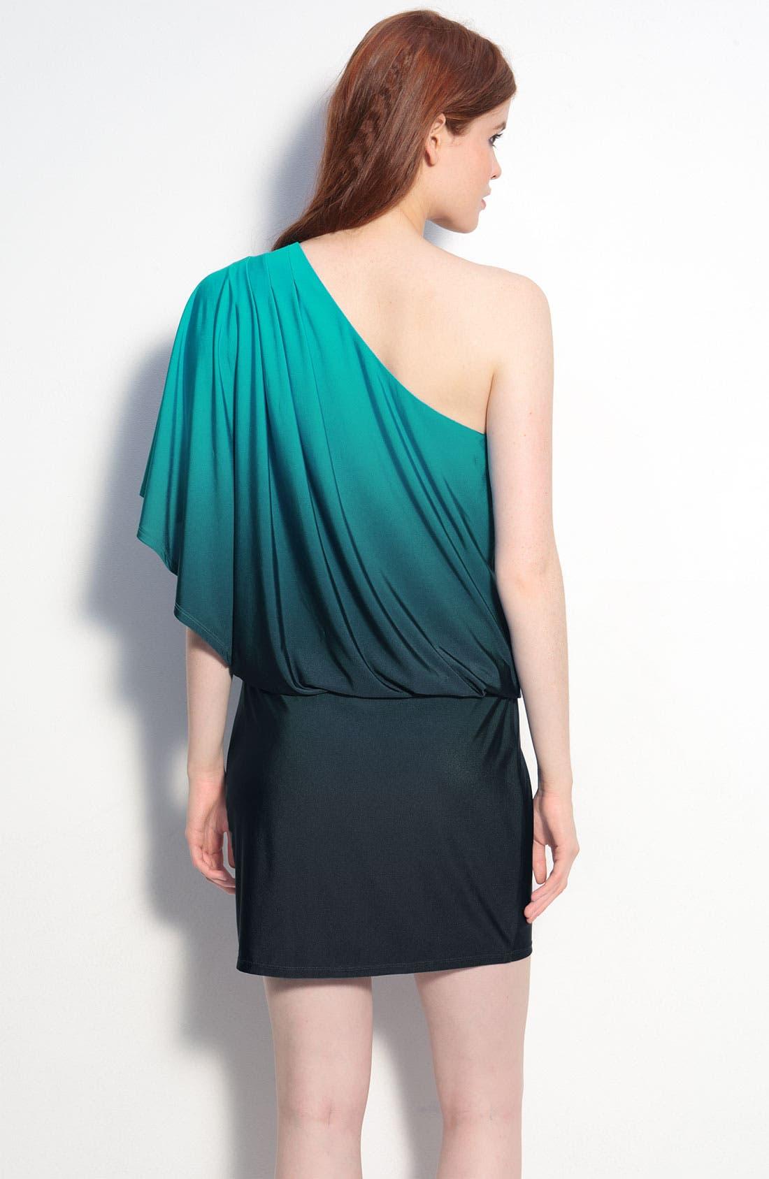 Alternate Image 2  - JS Boutique Ombré One Shoulder Jersey Dress