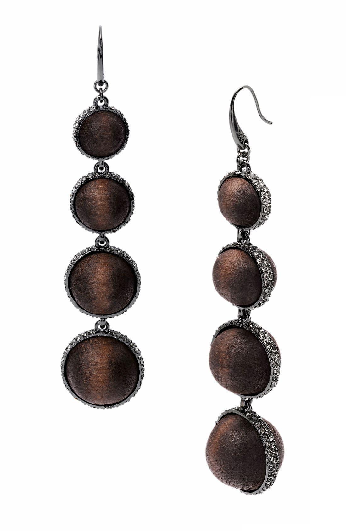 Alternate Image 1 Selected - Michael Kors 'Safari Glam' Pavé Slice Statement Earrings
