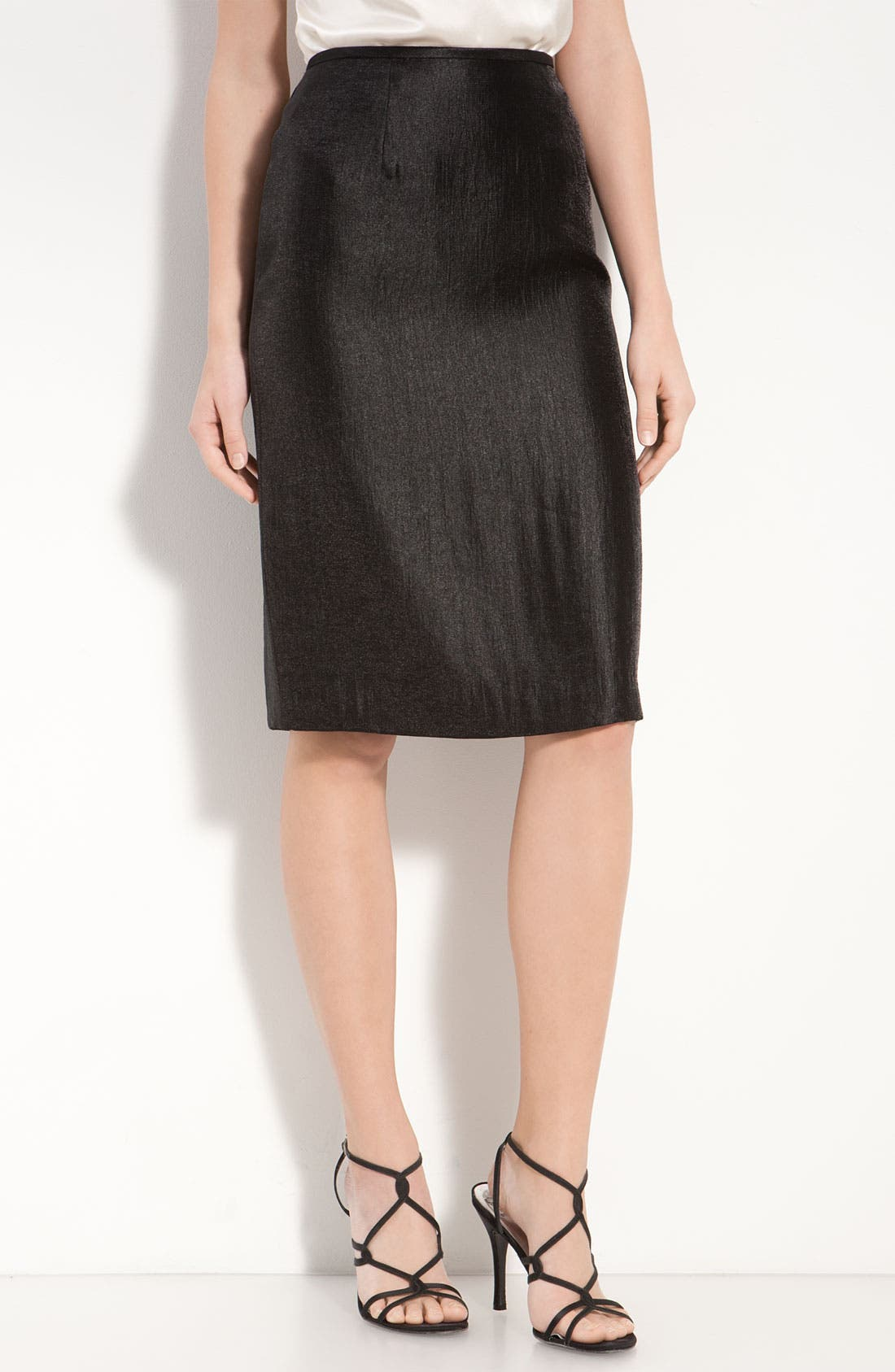 Main Image - Adrianna Papell Metallic Pencil Skirt