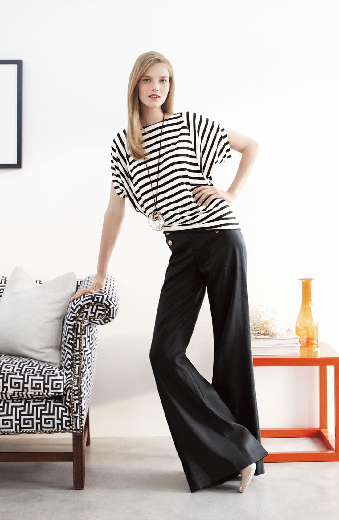 Alternate Image 4  - Lafayette 148 New York 'Lavish Linen' Sailor Pants