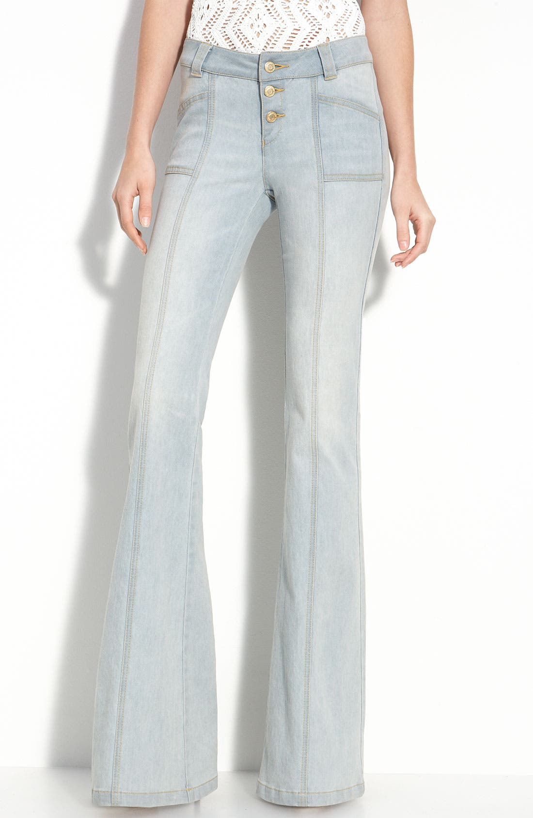 Alternate Image 2  - Rachel Zoe 'Campbell' Flare Leg Stretch Jeans (Long)