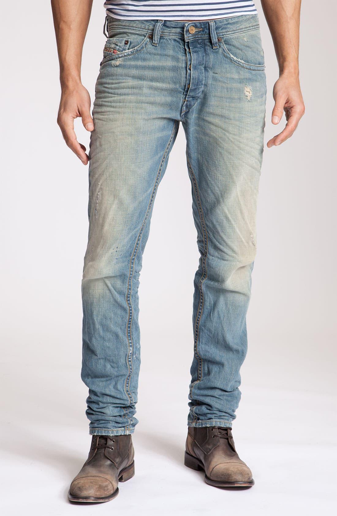 Alternate Image 2  - DIESEL® 'Braddom' Slim Fit Jeans (8880P)