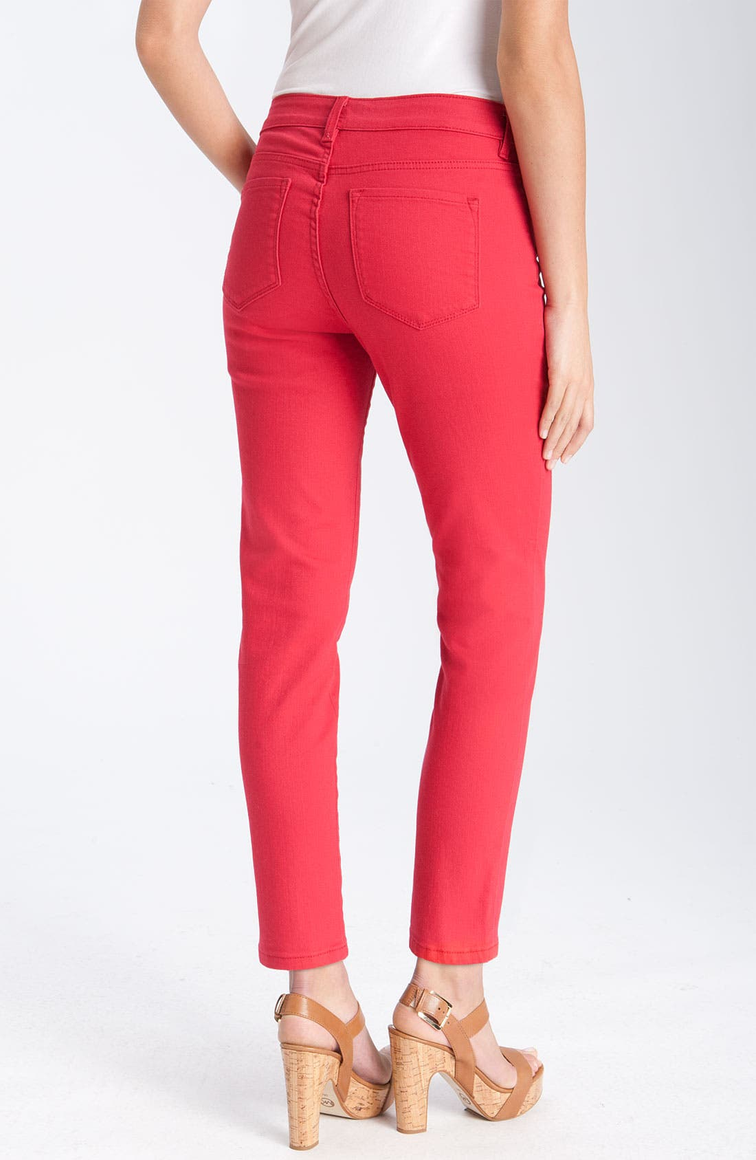 Alternate Image 2  - NYDJ 'Alisha' Skinny Stretch Jeans (Petite)