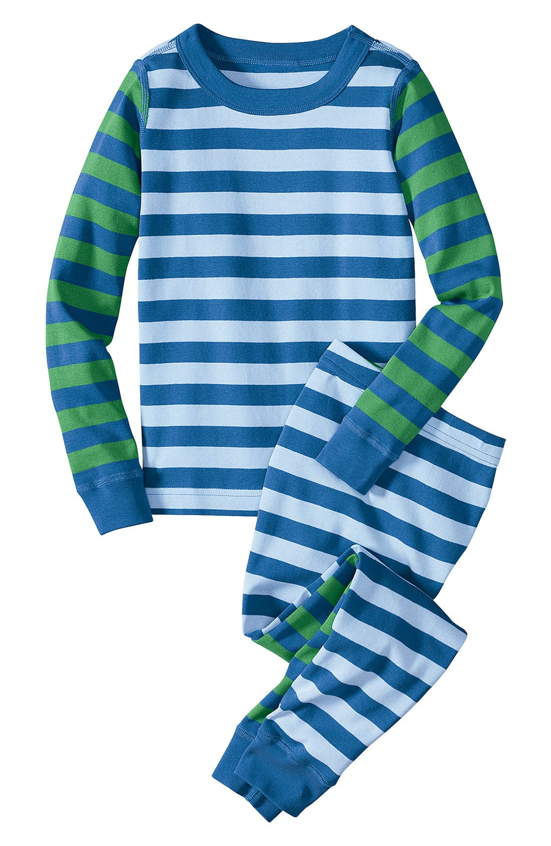 Alternate Image 1 Selected - Hanna Andersson 'Mix it Up' Two Piece Fitted Pajamas (Little Boys)