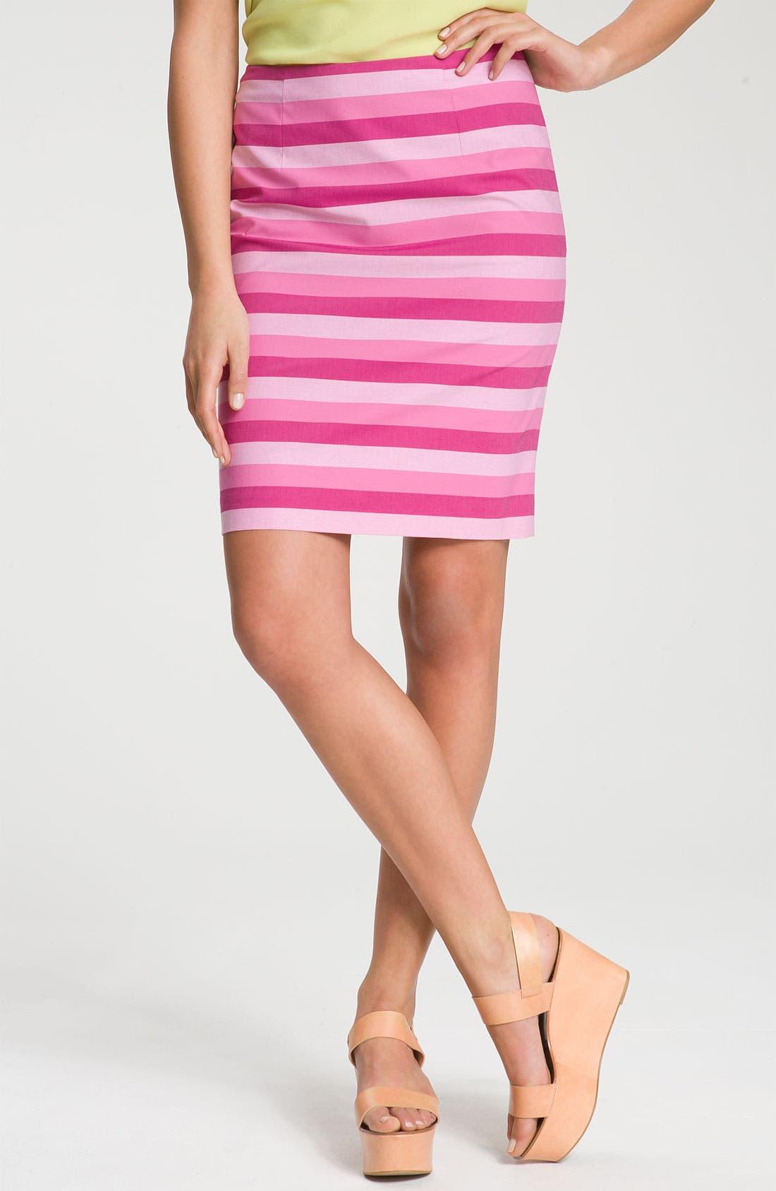 Alternate Image 1 Selected - Halogen® Stretch Cotton Blend Pencil Skirt