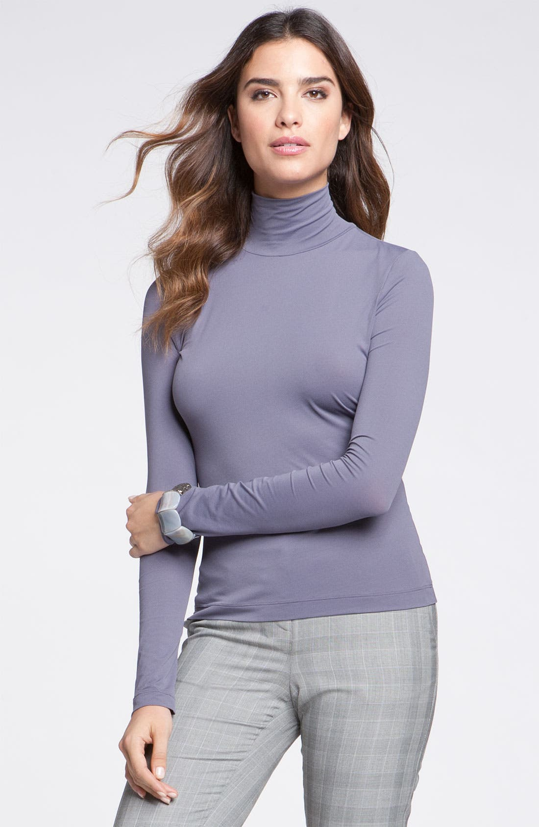 Alternate Image 1 Selected - St. John Collection Fine Jersey Turtleneck Shell