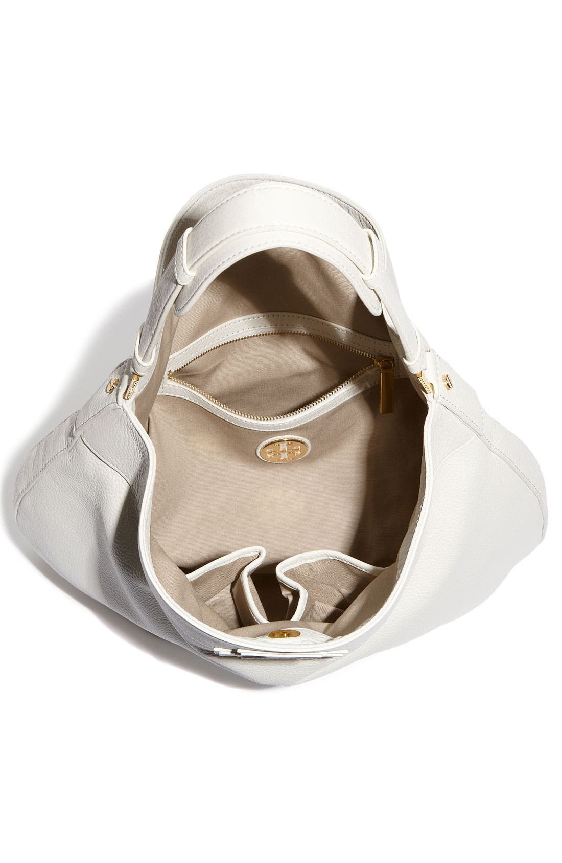 Alternate Image 3  - Tory Burch 'Stacked T Logo' Leather Hobo