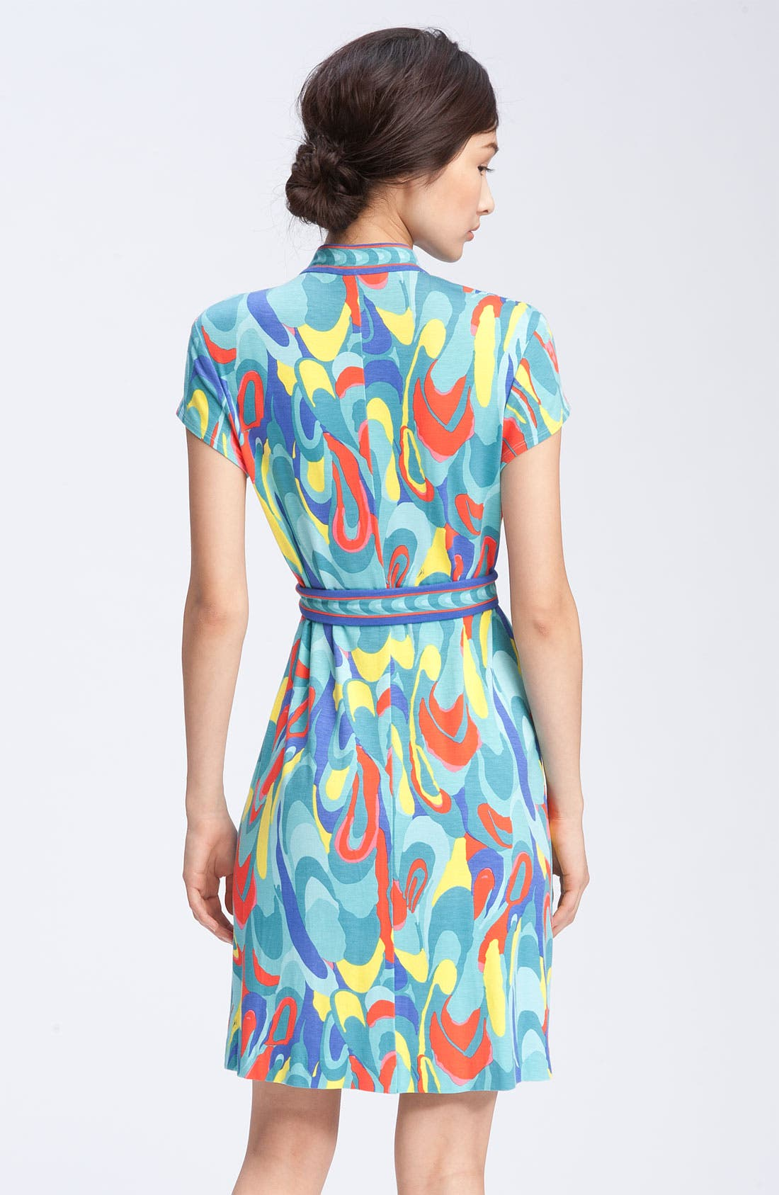 Alternate Image 2  - Trina Turk Print Mandarin Collar Dress