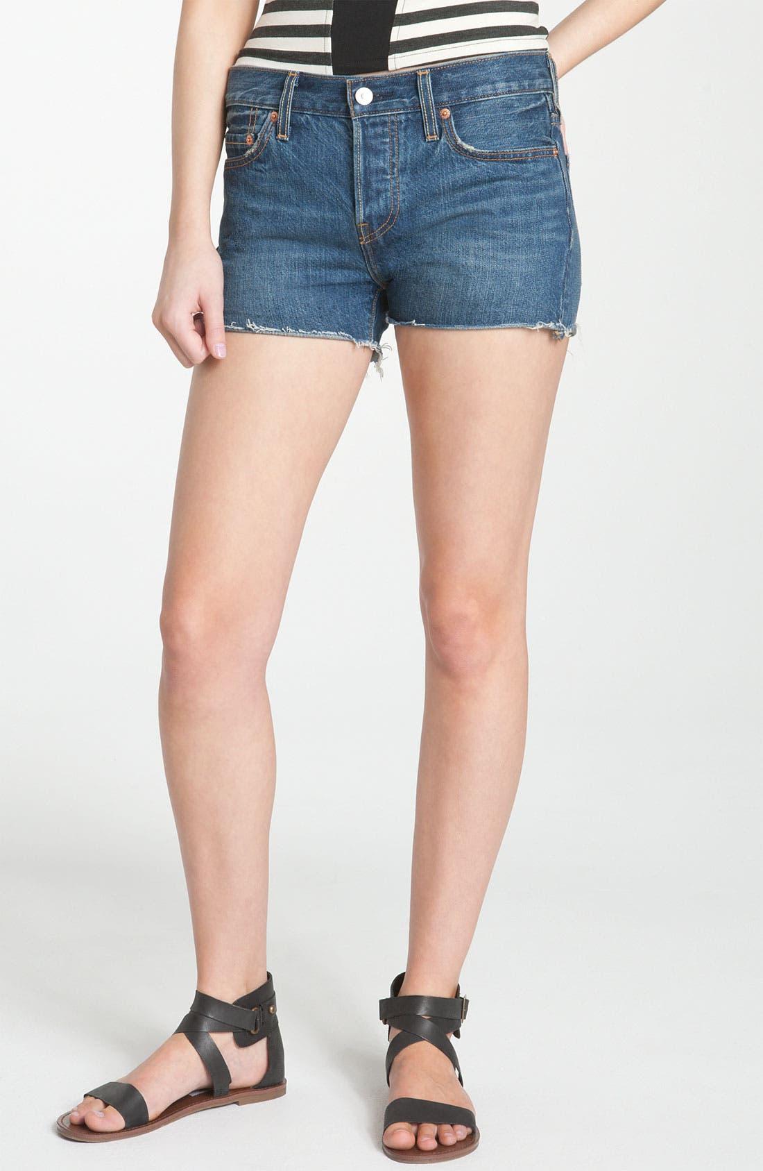 Alternate Image 2  - Levi's High Waist Cutoff Denim Shorts