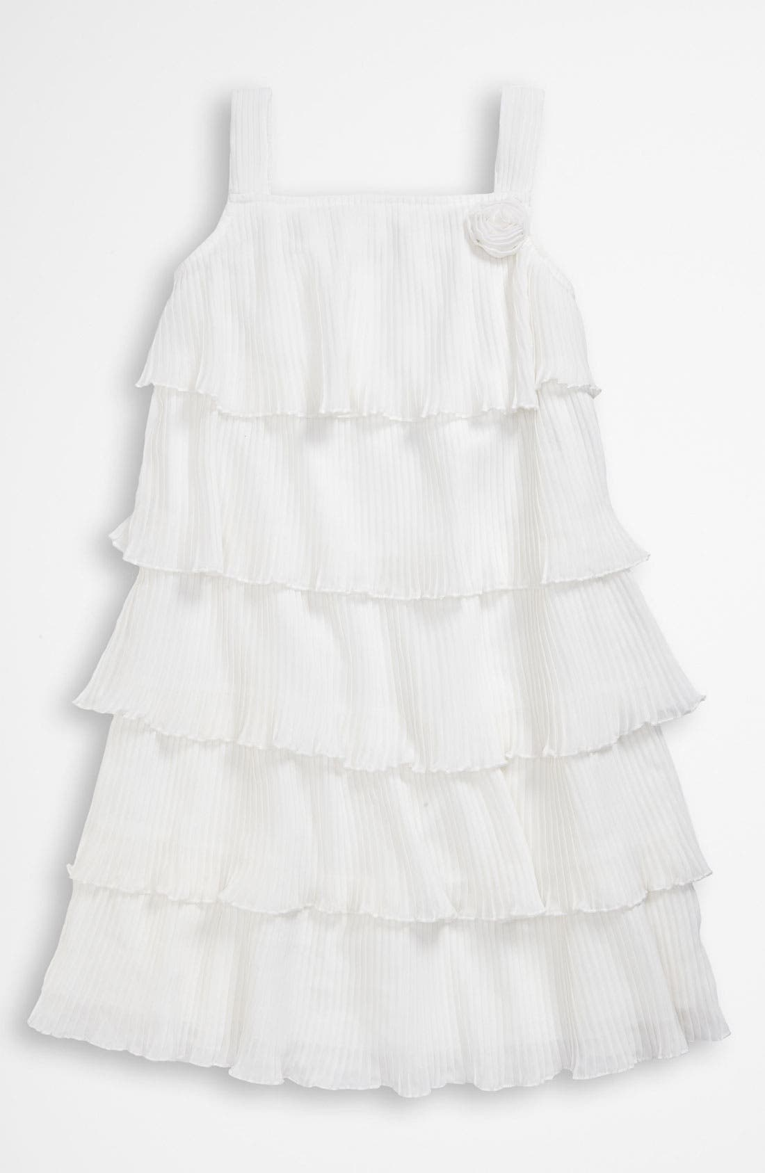 Alternate Image 1 Selected - United Colors of Benetton Kids Ruffle Dress (Little Girls & Big Girls)