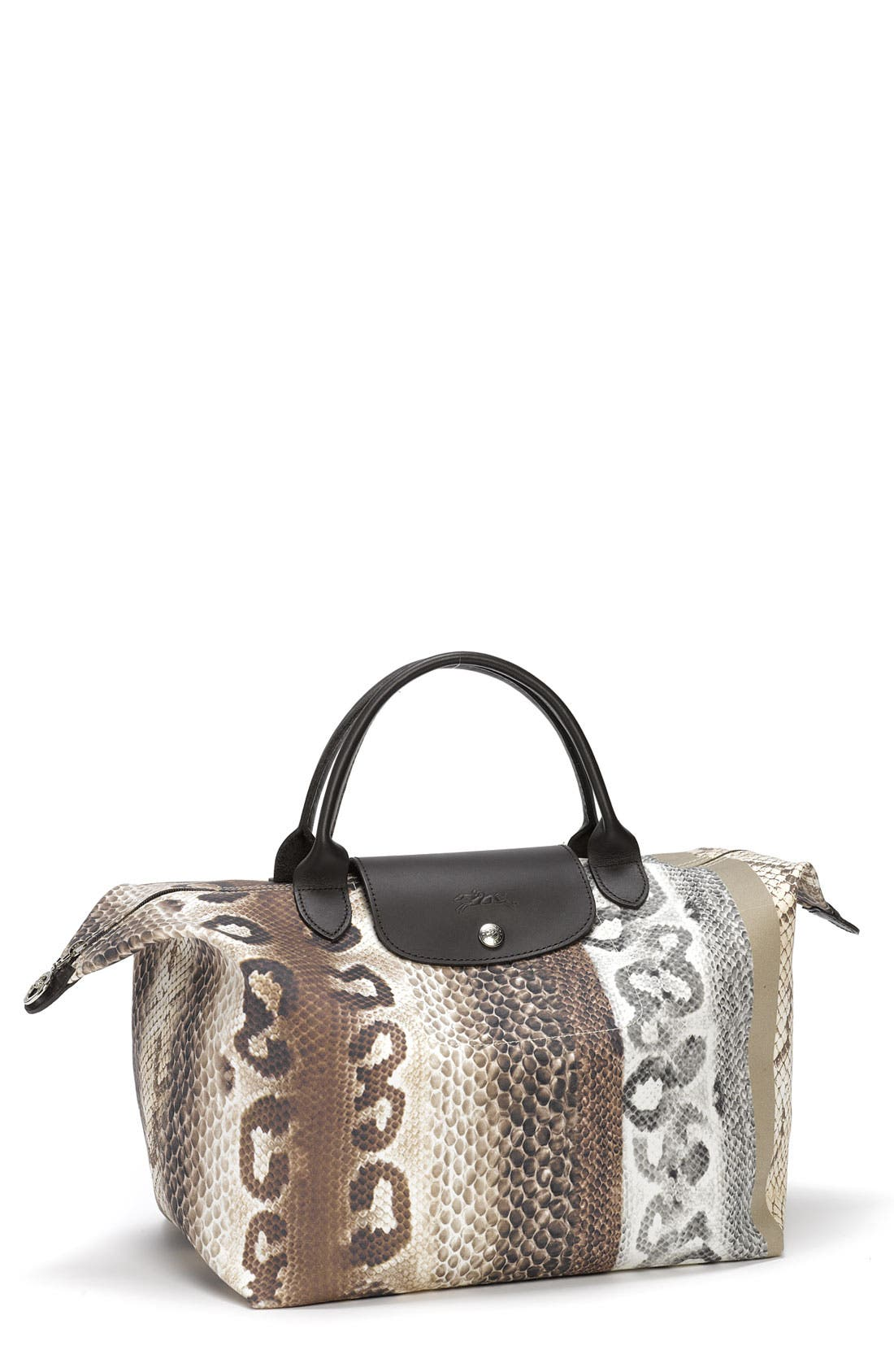 Alternate Image 1 Selected - Longchamp 'Reptiligne Toile' Handbag