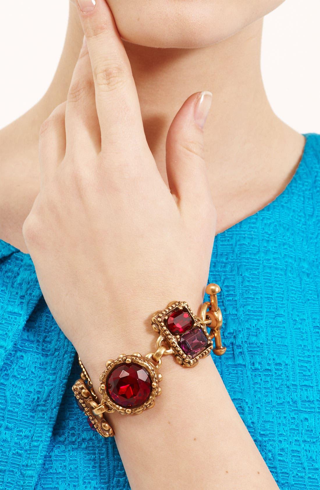 Alternate Image 2  - Oscar de la Renta Faceted Stone Bracelet