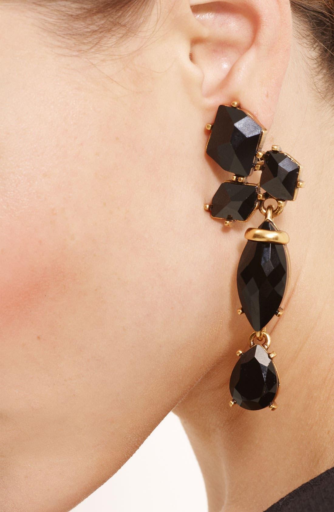 Alternate Image 2  - Oscar de la Renta Triple Drop Clip Earrings