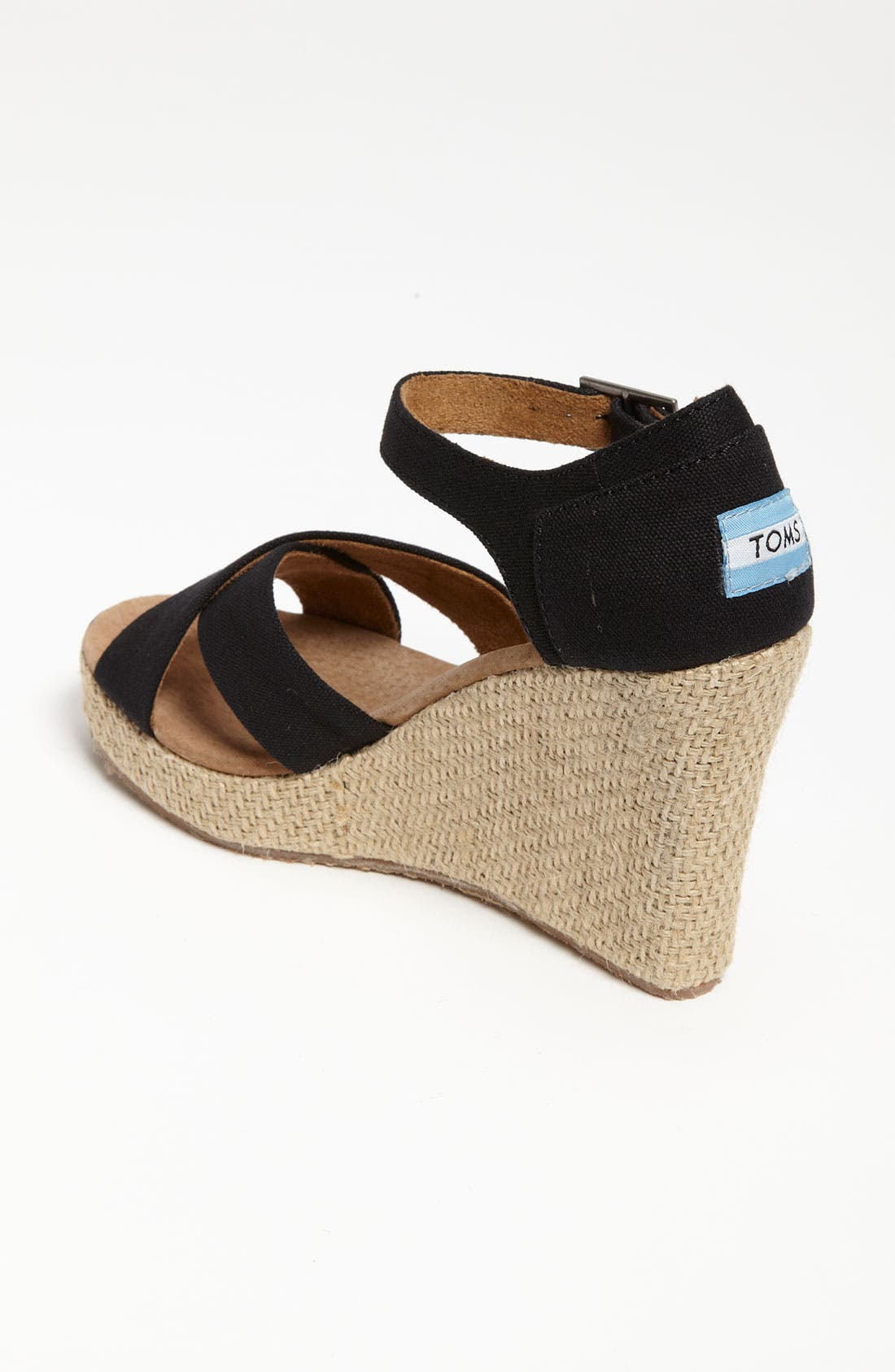 Alternate Image 2  - TOMS Canvas Wedge Sandal