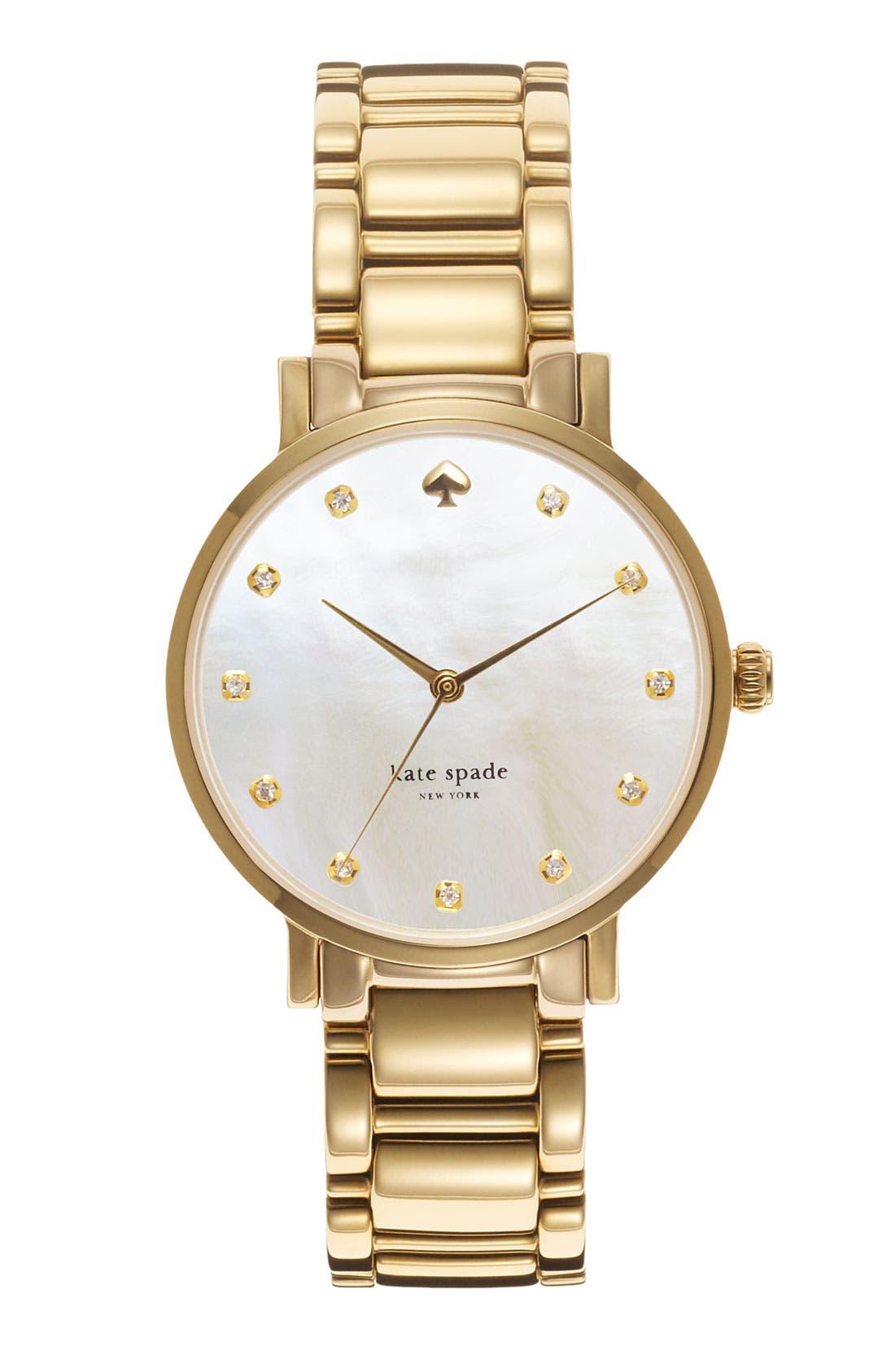Alternate Image 1 Selected - kate spade new york 'gramercy' crystal marker watch, 34mm