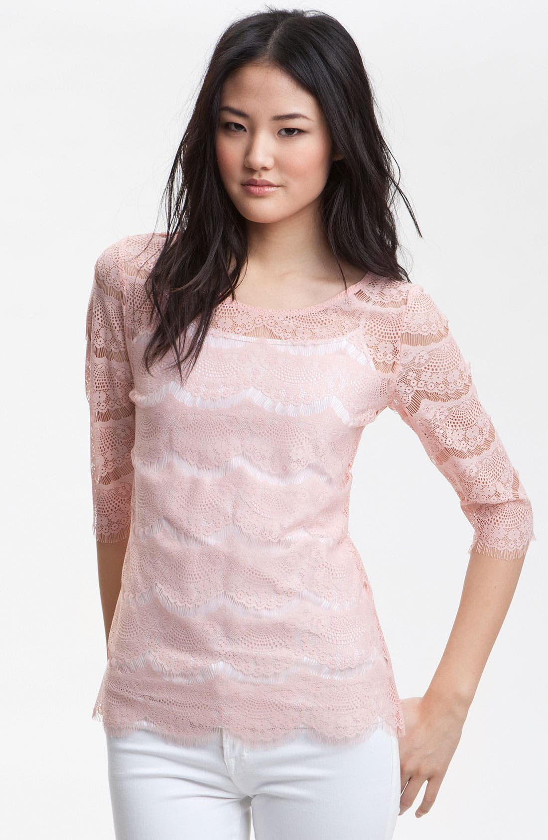 Main Image - Bellatrix Lace Fan Top