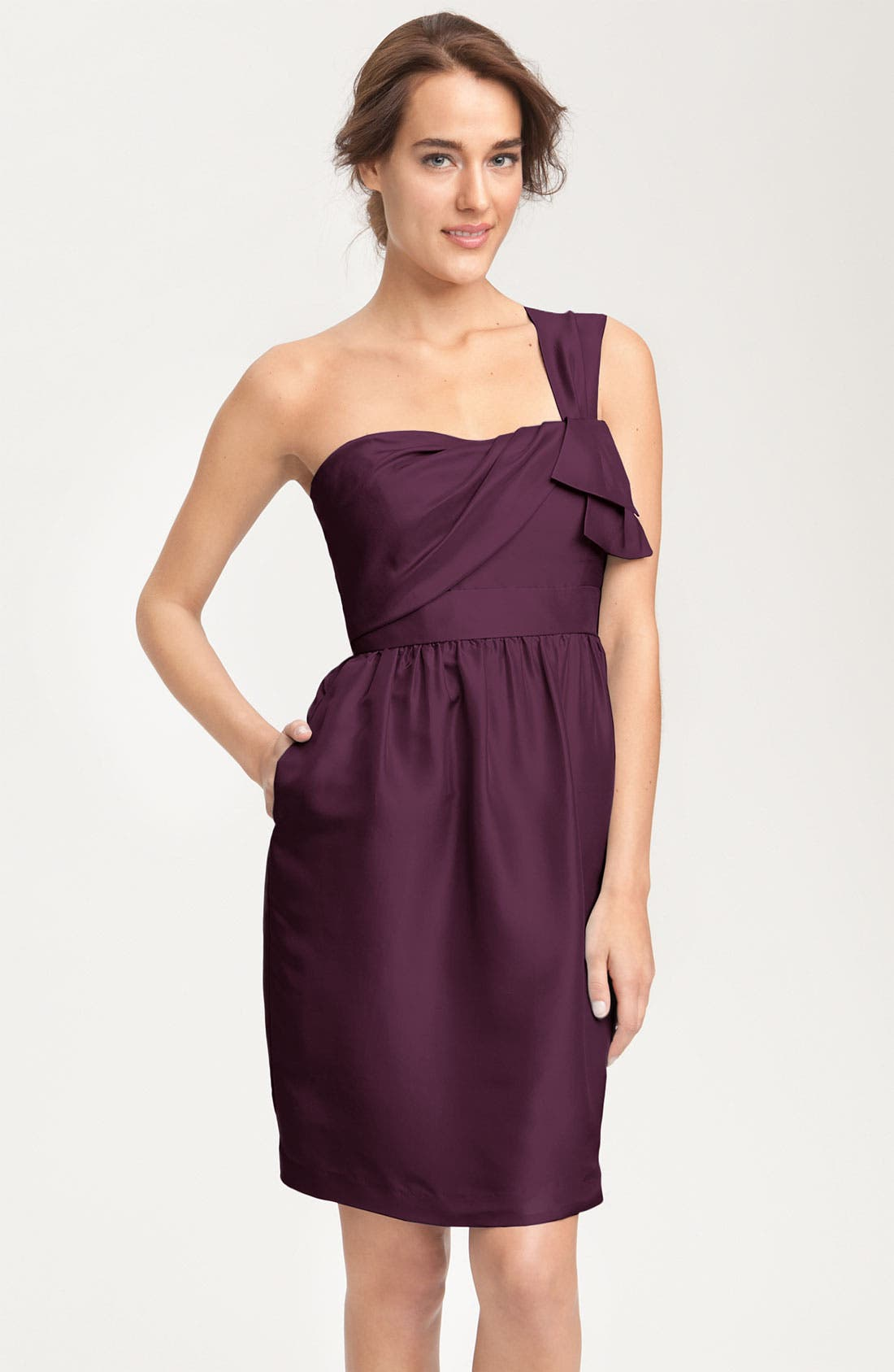 Main Image - Jenny Yoo Convertible Shantung Dress