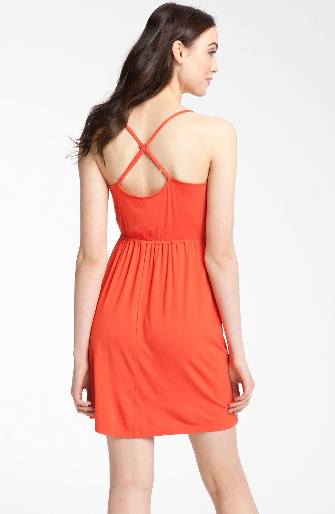 Alternate Image 2  - Caslon® Crossover Back Knit Dress