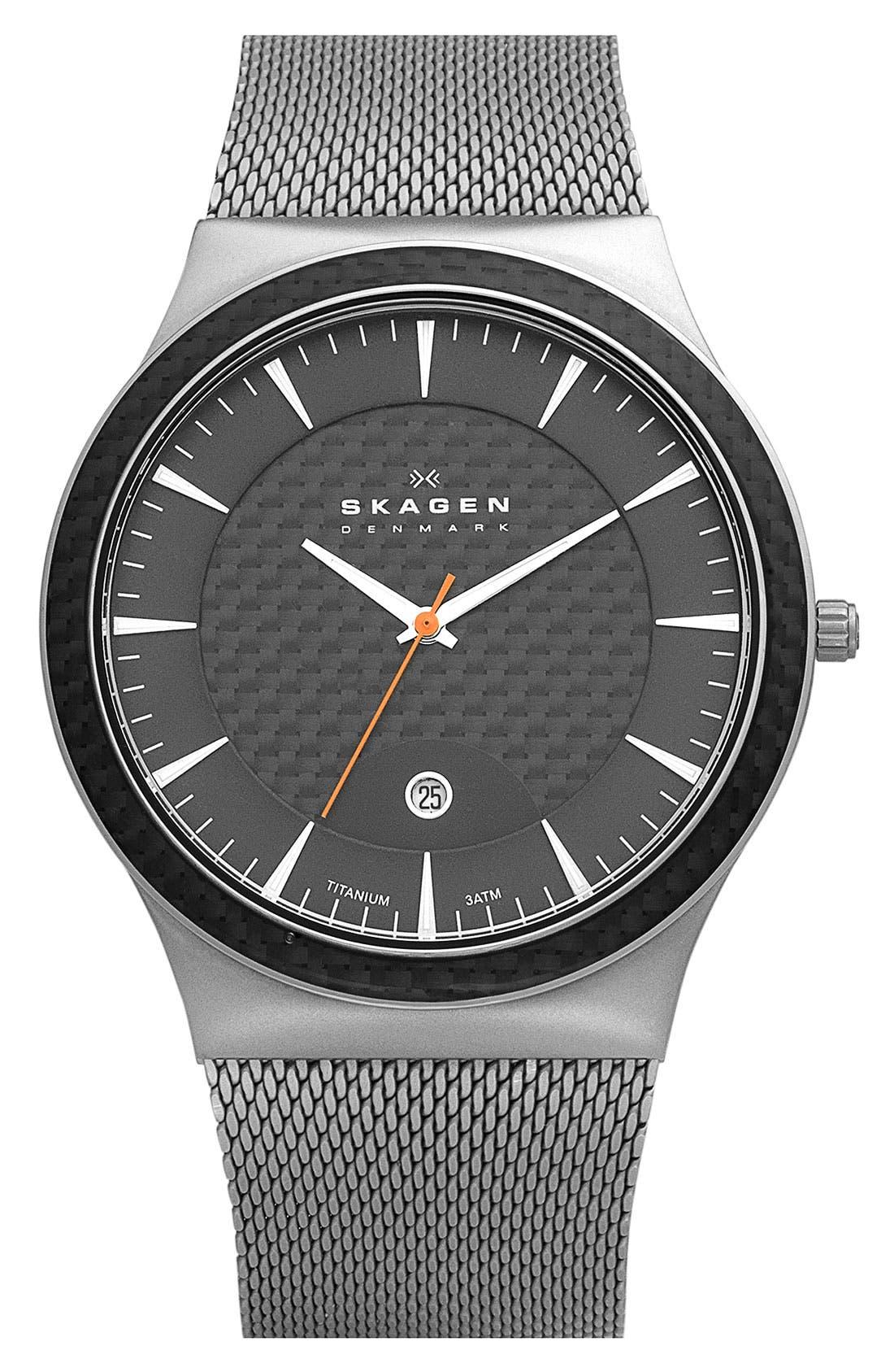 Alternate Image 1 Selected - Skagen 'Viggo' Titanium Case Watch, 42mm