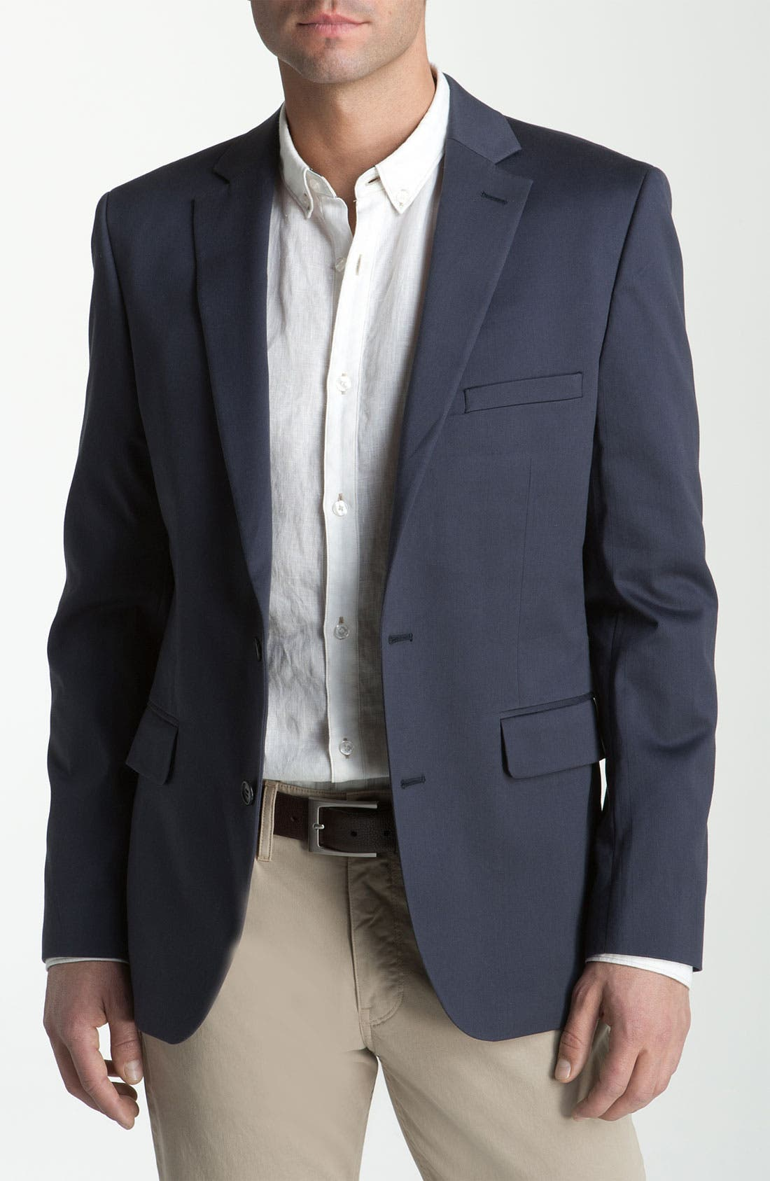 Alternate Image 1 Selected - Calibrate Trim Fit Cotton Sportcoat