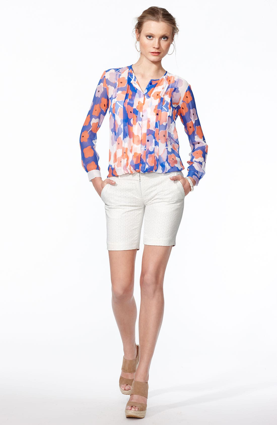 Alternate Image 2  - Diane von Furstenberg Blouse & Shorts