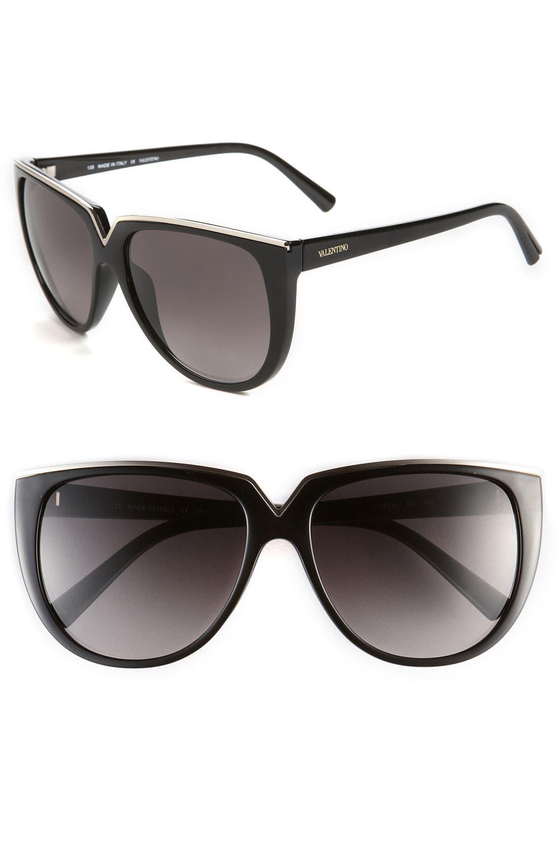 Main Image - Valentino 57mm Retro Sunglasses