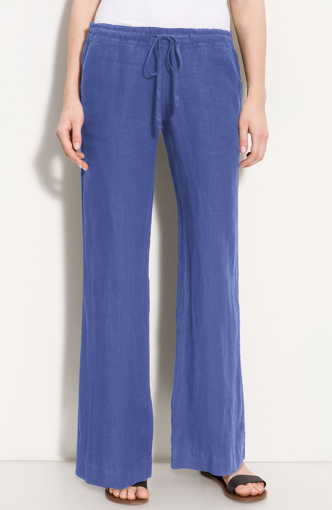 Main Image - Allen Allen Drawstring Linen Pants