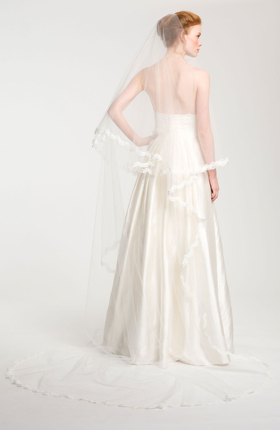 Alternate Image 1 Selected - Nina 'Angela' Lace Trim Veil