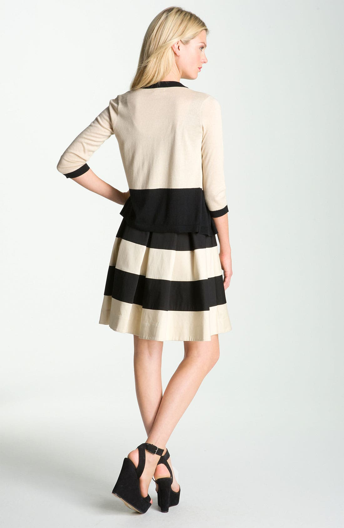Alternate Image 4  - kate spade new york 'celina' pleated stripe dress (Online Exclusive)