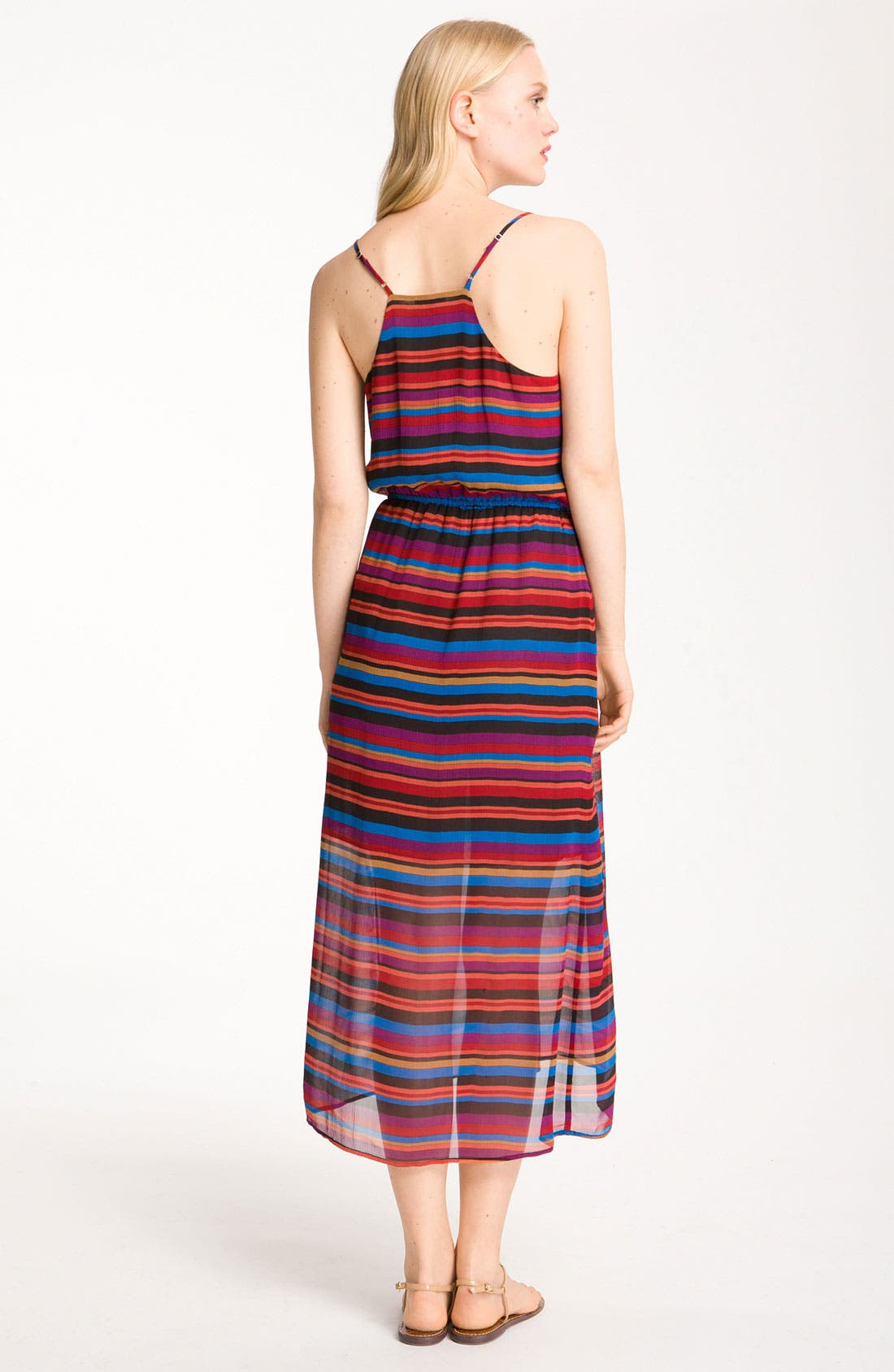 Alternate Image 2  - Joie 'Jesbelle' Striped Silk Chiffon Midi Dress