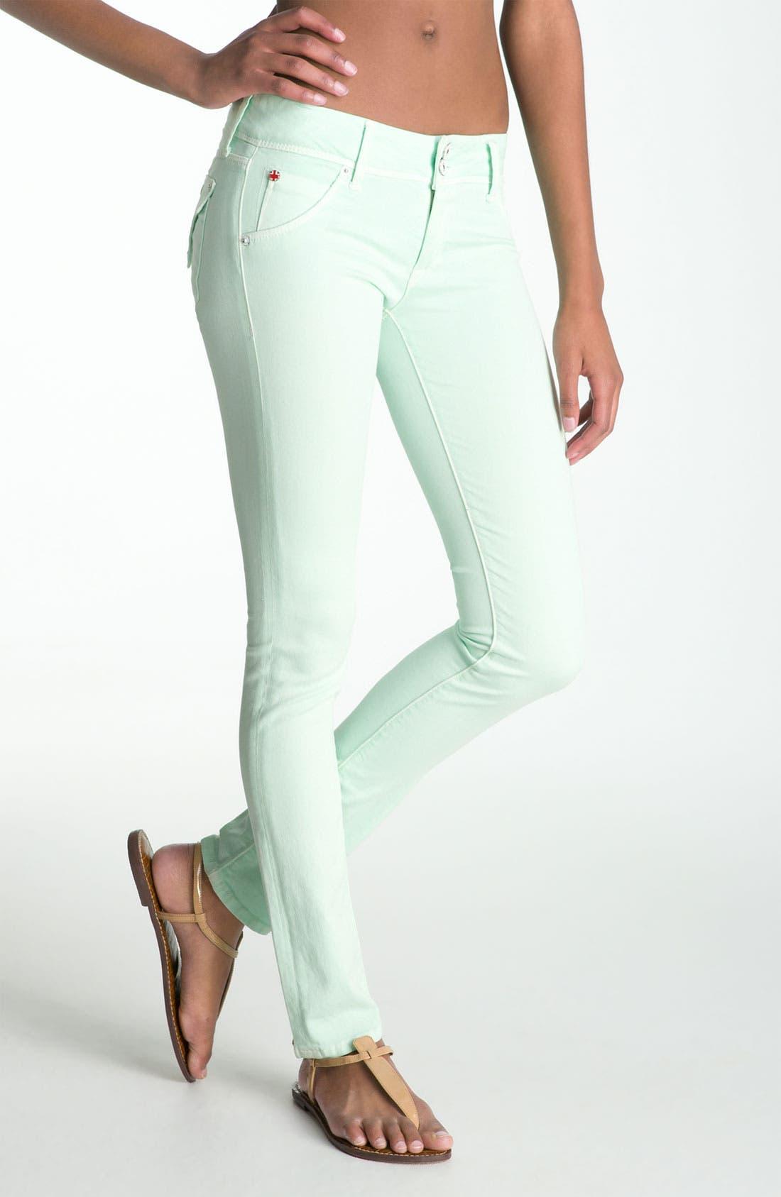 Alternate Image 2  - Hudson Jeans Skinny Stretch Jeans (Mint)