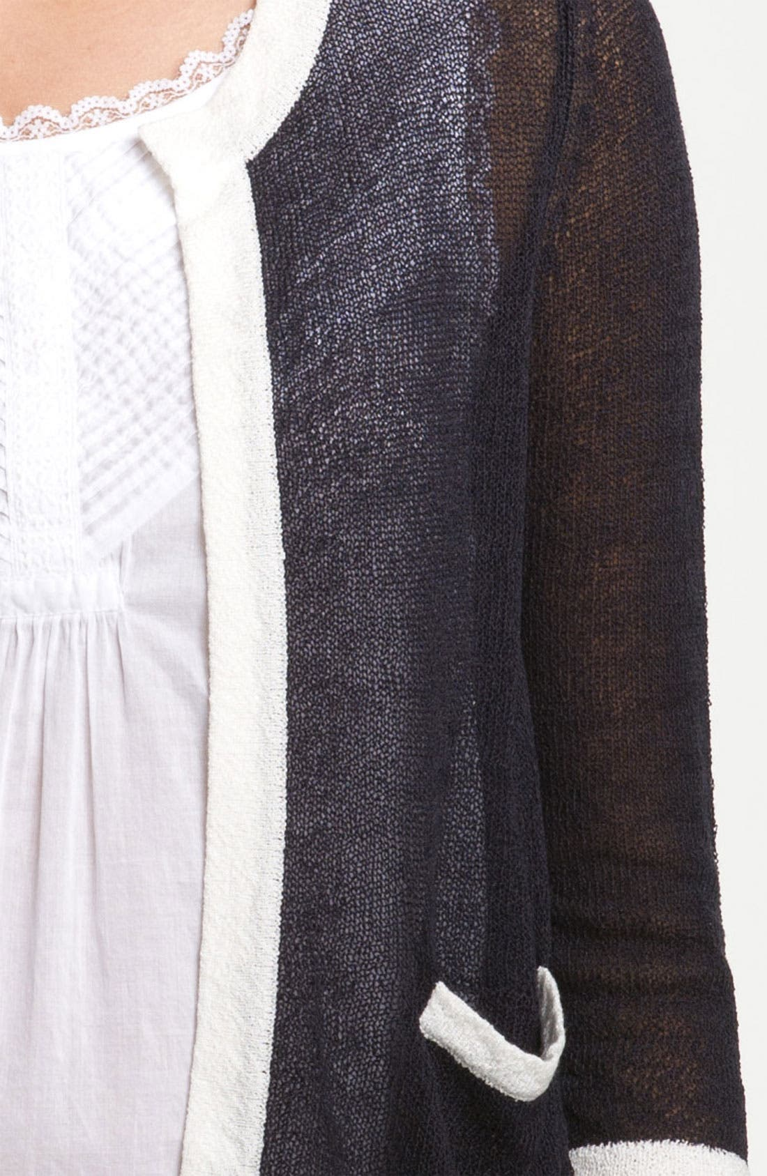 Alternate Image 3  - Frenchi® Crop Cardigan (Juniors)